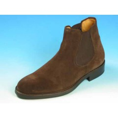 Men's ankle boot with elastic bands in brown suede - Available sizes:  40, 44