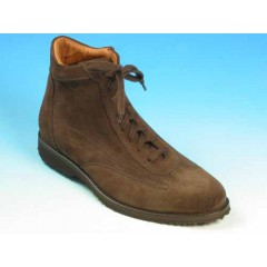 Men's laced ankle shoe in brown suede - Available sizes:  36, 40, 41, 42, 43