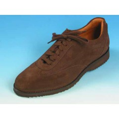 Men's laced shoe in brown suede - Available sizes:  36, 40, 44