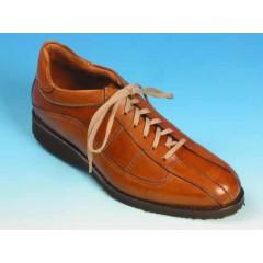 Herrenschuh mit Schnürsenkeln aus hellbraunem Leder - Verfügbare Größen:  42, 43, 53