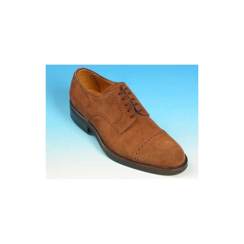 Chaussure derby à lacets pour hommes en daim marron - Pointures disponibles:  39, 40, 41, 42, 43, 50, 52, 54