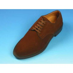 Men's derby lace-up shoe in brown suede - Available sizes:  40, 44