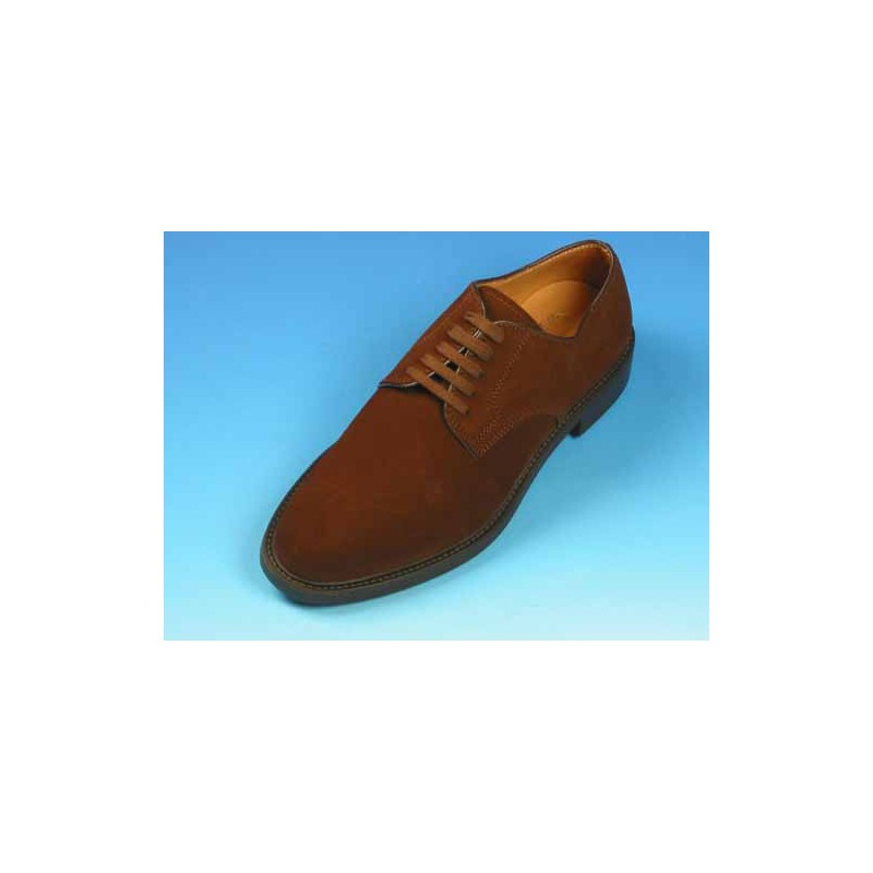 Chaussure derby à lacets pour hommes en daim marron - Pointures disponibles:  40, 44