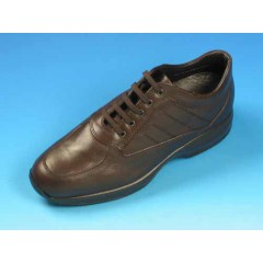 Men's laced shoe in brown leather - Available sizes:  36