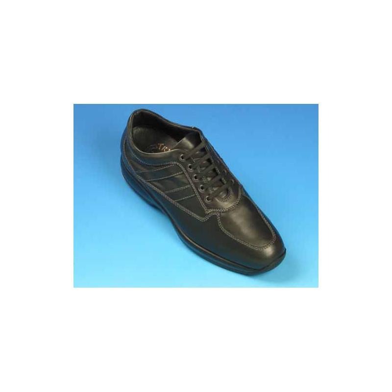 Zapato con cordones para hombres en piel negra - Tallas disponibles:  36