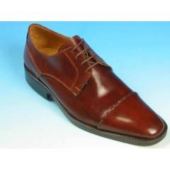 Scarpa stringata derby da uomo in pelle colore marrone - Misure disponibili: 43, 44, 45, 50, 51, 52, 53, 54