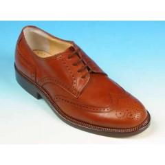 Scarpa stringata da uomo in pelle colore cuoio - Misure disponibili: 36, 39, 41, 42, 44, 45, 52