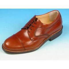 Scarpa stringata da uomo in pelle color cuoio - Misure disponibili: 36, 39, 41, 42, 44, 45