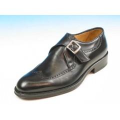 Scarpa elegante da uomo con fibbia in pelle nera - Misure disponibili: 37, 40, 44, 50, 52, 54