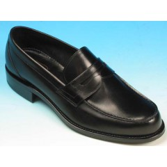 Men's elegant loafer in black leather - Available sizes:  40, 42