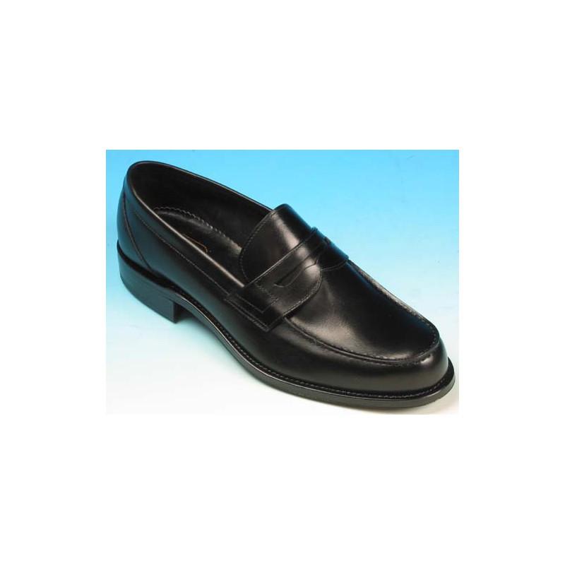 Mocasino elegante para hombre en piel negra - Tallas disponibles:  40, 42