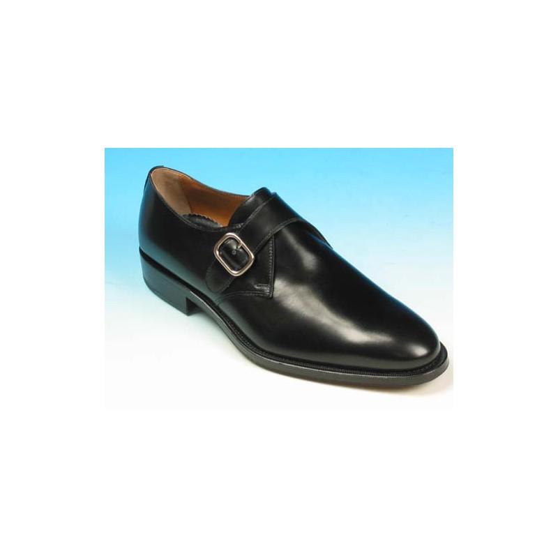 Chaussure élégant avec boucle pour hommes en cuir noir - Pointures disponibles:  40, 44, 51, 52