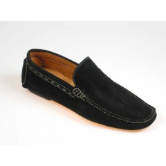 Men's car shoe in black suede - Available sizes:  39