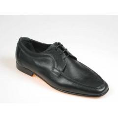 Chaussure à lacets pour hommes en cuir noir - Pointures disponibles:  40, 41, 44, 52