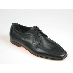 Men's laced shoe in black leather - Available sizes:  40, 41, 44, 52