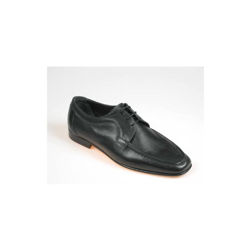 Herrenschuh mit Schnürsenkeln aus schwarzem Leder - Verfügbare Größen:  40, 41, 44, 52