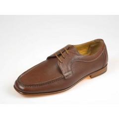 Zapato con cordones para hombre en piel marron - Tallas disponibles:  39, 41, 42, 43, 44, 45, 50, 52