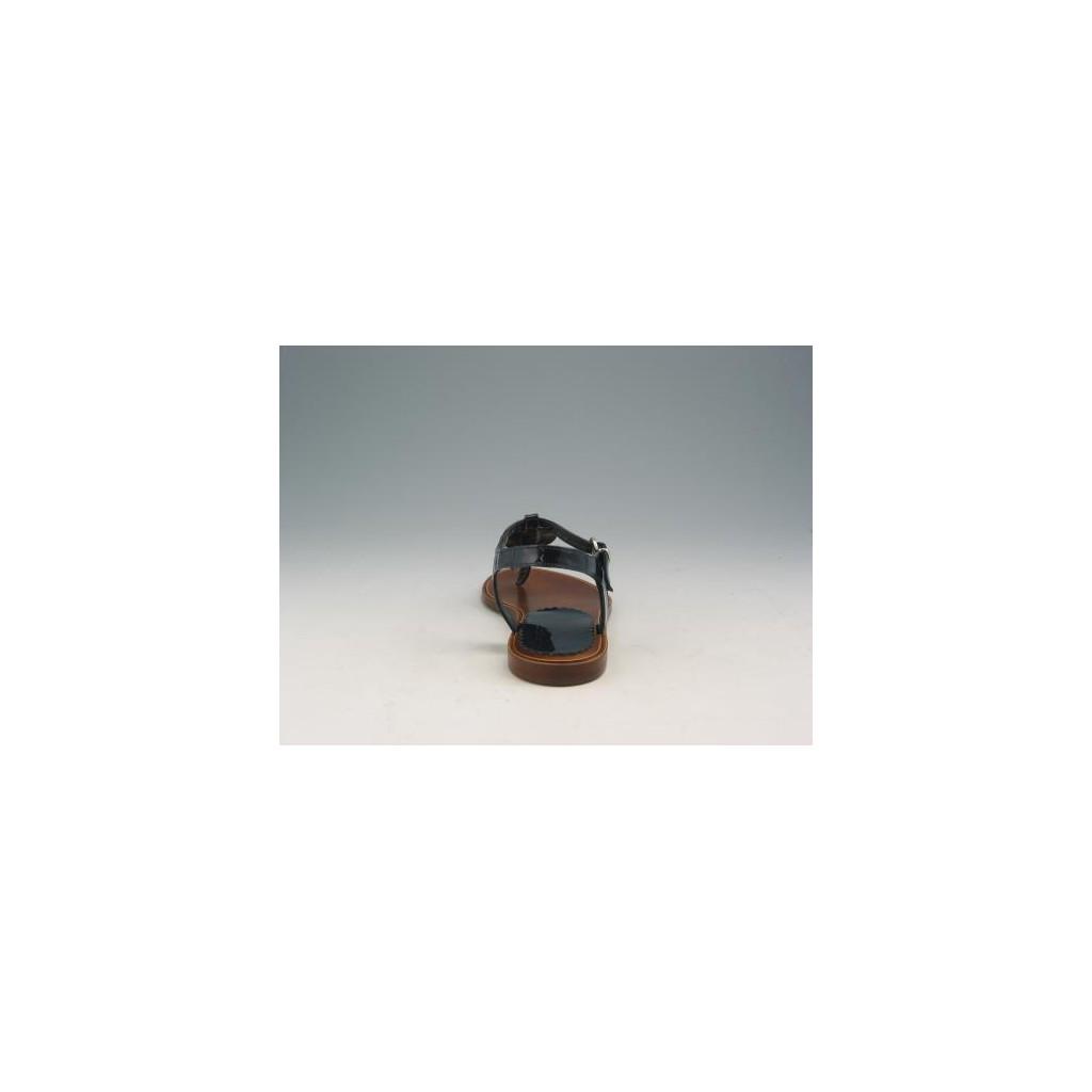 flop sandale de peinture bleue. Black Bedroom Furniture Sets. Home Design Ideas