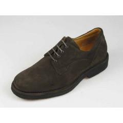 Scarpa stringata da uomo in camoscio marrone scuro - Misure disponibili: 40