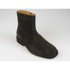 Men's ankle wirh zipper shoe in brown suede - Available sizes:  40, 42, 43