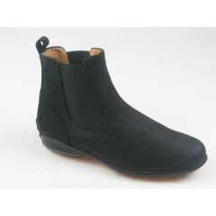 Men's ankle boot in black nubuck leather with elastic bands - Available sizes:  37, 40, 51