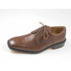 Scarpa derby stringata da uomo in pelle colore marrone - Misure disponibili: 46, 52