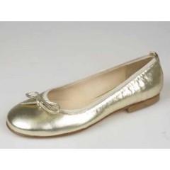 Ballerina in pelle colore platino - Misure disponibili: 32