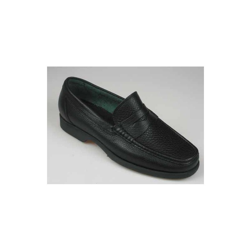 Mocassin pour hommes en cuir noir - Pointures disponibles:  52