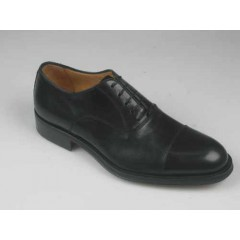 Scarpa stringata Oxford con puntale da uomo in pelle colore nero - Misure disponibili: 51, 52