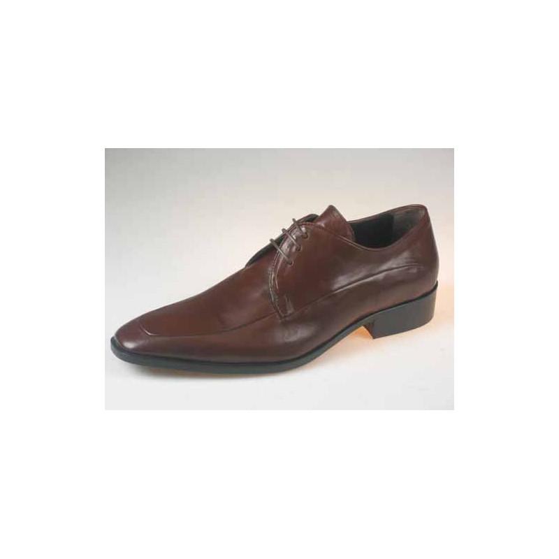 Zapato derby con cordones para hombre en piel marron - Tallas disponibles:  50
