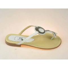 Sabot infradito con morsetto vernice colore bianco - Misure disponibili: 34