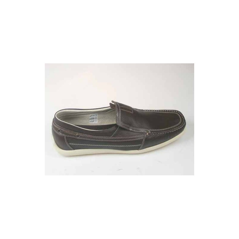 Sport Mocassin in brown leather - Available sizes: 51