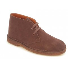 Men's sportive laced ankle shoe in brown suede - Available sizes:  36, 40