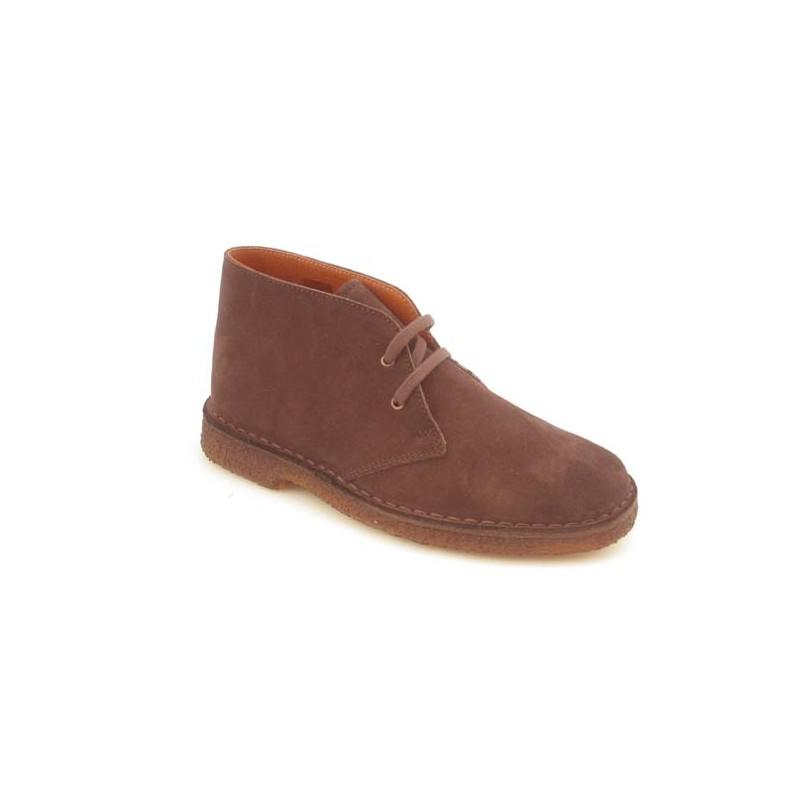 Chaussure sportif pour hommes avec lacets en daim marron - Pointures disponibles:  36, 40