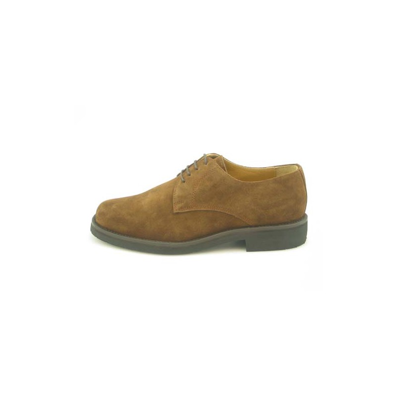 Men's laced shoe in light brown suede - Available sizes:  36