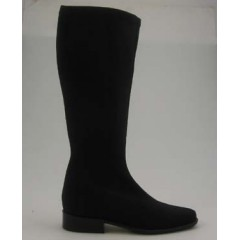 Woman's boot in black elastic fabric heel 2 - Available sizes:  31