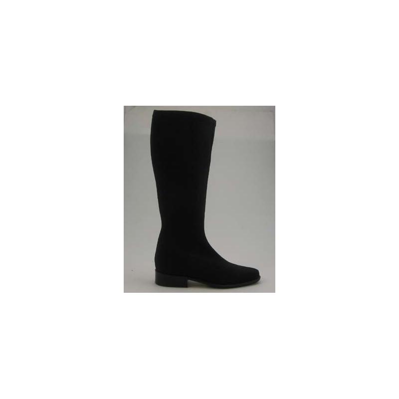 Bota para mujer en tejido elastico negro tacon 2 - Tallas disponibles:  31
