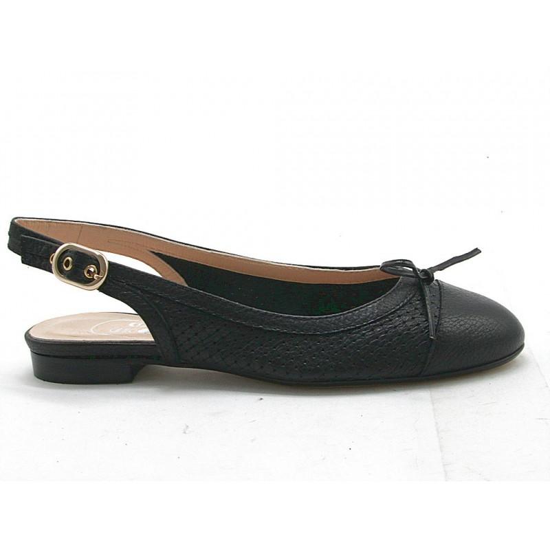 Chanel avec noeud en cuir noir talon 1 - Pointures disponibles:  32