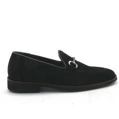 Mocasin para hombre con accesorio en gamuza negra - Tallas disponibles:  37, 51
