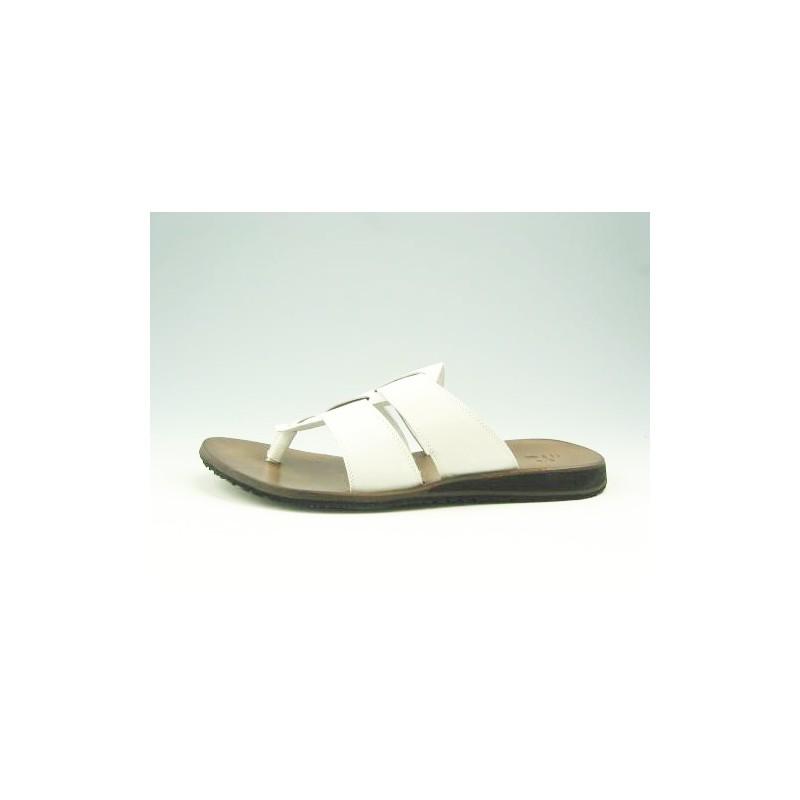 flops cuir blanc - Pointures disponibles:  47