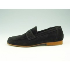 Mocassin for men in black suede - Available sizes:  36, 38, 39, 52