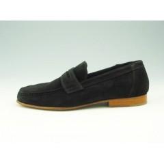 Mokassin aus schwarzem Leder - Verfügbare Größen:  36, 38, 39, 52