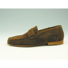 Mocassin for men in brown suede - Available sizes:  44, 52