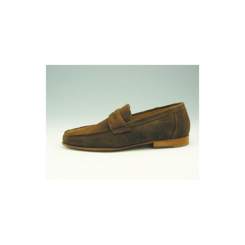 mocassin en daim marron - Pointures disponibles:  44, 52