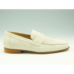 Mocassin for men in sandcolored suede - Available sizes:  36, 37, 38, 39, 41, 43, 44, 50, 51, 52