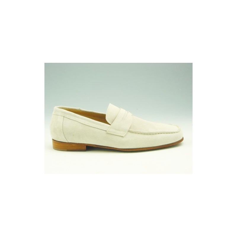Mocassin for men in sandcolored suede - Available sizes:  36, 37, 38, 39, 41, 43, 44, 50, 51