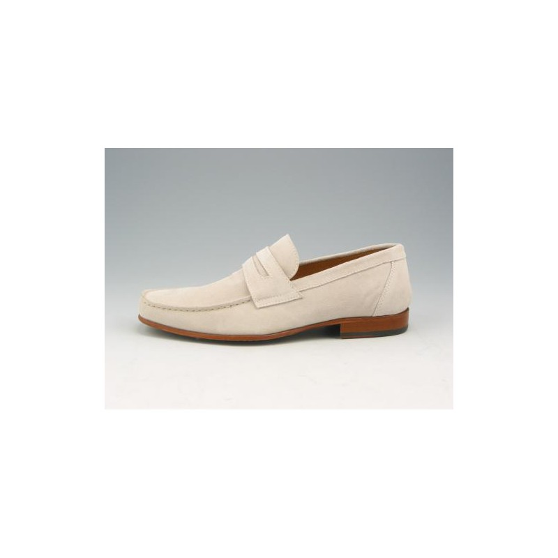 Men's mocassin in sandcolored suede  - Available sizes:  37, 38, 39, 40, 41, 43, 44, 45, 50, 52