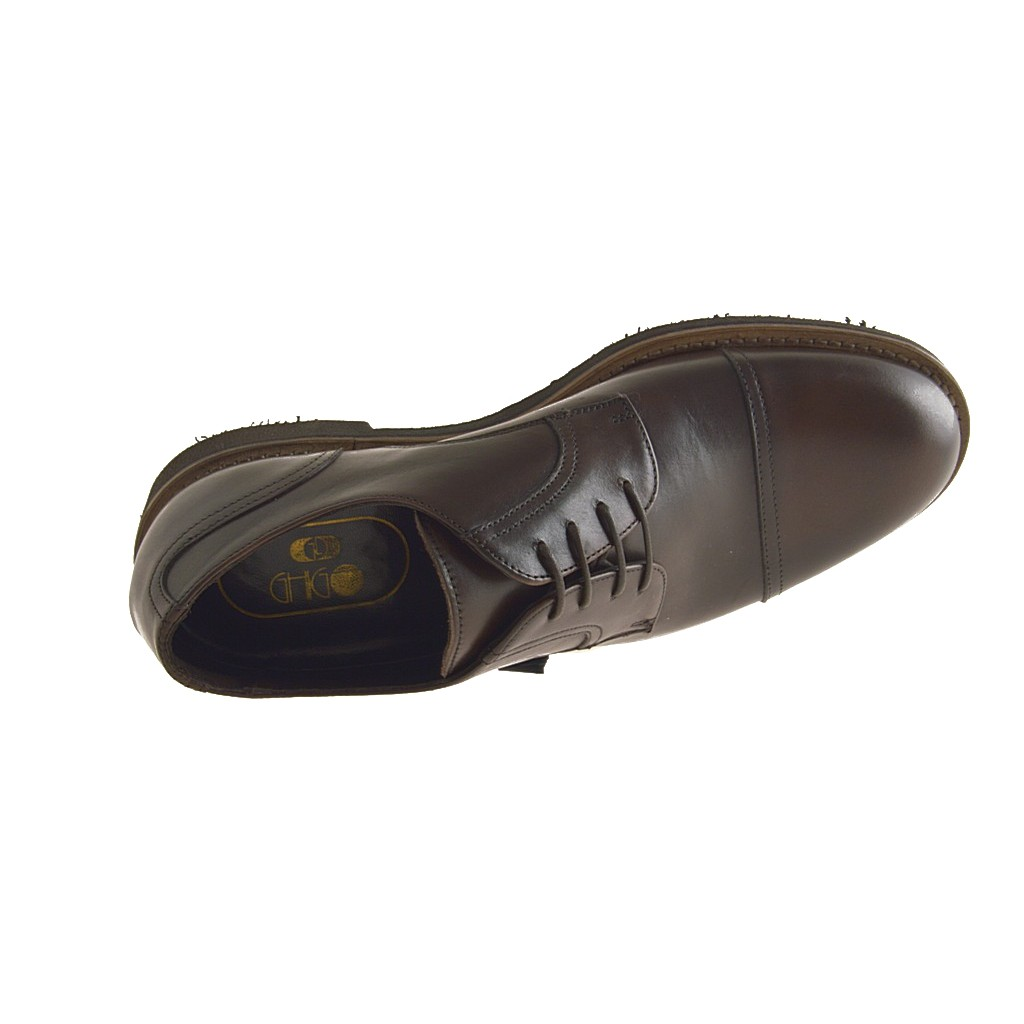 Small Or Large Closed Shoe Laces In Brown Leather
