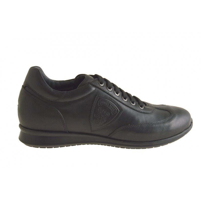 Chaussure pour hommes à lacets en cuir noir - Pointures disponibles:  36
