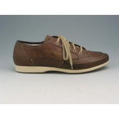 Scarpa sportiva stringata in pelle marrone - Misure disponibili: 46